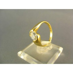 .Zlatý prsteň so zirkónom žlté zlato DP52320Z