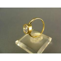 Zlatý prsteň jemný dámsky žlté zlato DP52225Z