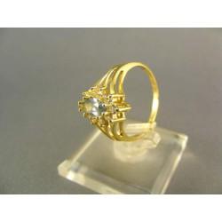 .Zlatý prsteň so zirkónom žlté zlato DP54272Z