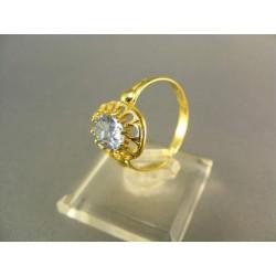 .Zlatý prsteň v kvete s akvamarinom žlté zlato VP57235Z