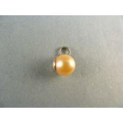Zlatý prívesok s perlou biele zlato VI125Z