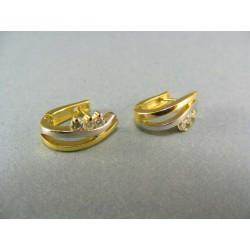 Zlaté náušnice zirkón viacfarebné zlato VA329V