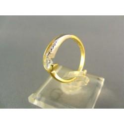 Zlatý prsteň viacfarebné zlata VP54283V