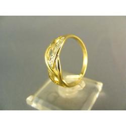 Zlatý prsteň jemne poprepletaný žlté zlato VP61325Z