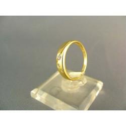 Zlatý dámsky prsteň jemný žlté zlato VP51179Z
