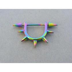 Piercing ch. oceľ pestrofarebný VO289