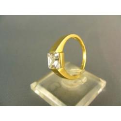 Zlatý prsteň elegantný tvar žlté zlato VP53309Z
