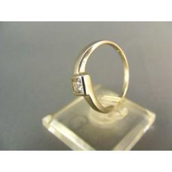 .Zlatý prsteň biele zlato, zirkón VP57221B