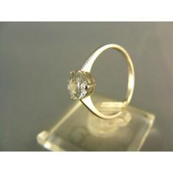 Zlatý prsteň z bieleho zlata a kamienkom VP55184B