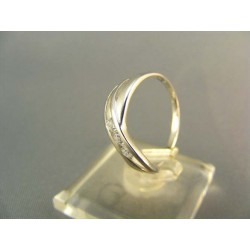 .Zlatý prsteň biele zlato +