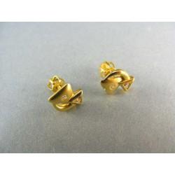 Zlaté náušnice s kamienkom DA159Z