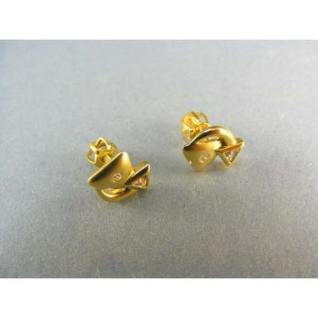 Zlaté náušnice s kamienkom