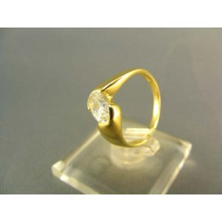 Zlatý prsteň so zirkónom jednoduchý žlté zlato DP50311Z