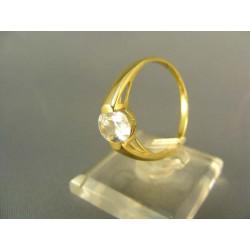 Zlatý dámsky prsteň s kamienkom žlté zlato PD61308Z