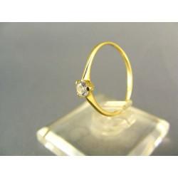 Zlatý dámsky prsteň jemný žlté zlato DP52086Z