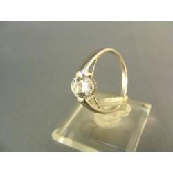 Zlatý dámsky prsteň biele zlato DP57266B