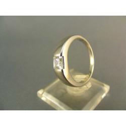 Zlatý prsteň so zirkónom biele zlato DP62498B