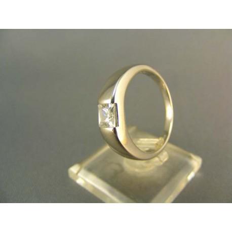 Zlatý prsteň biele zlato