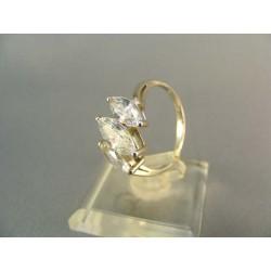 Zlatý dámsky prsteň s troma zirkónmi biele zlato DP55375B