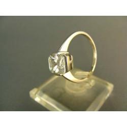 Zlatý dámsky prsteň očarujúci biele zlato DP54295B
