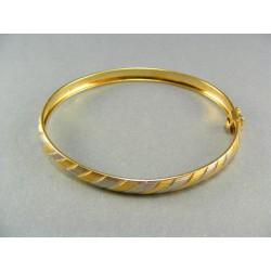 Zlatý náramok pevný s pružkami VN469V