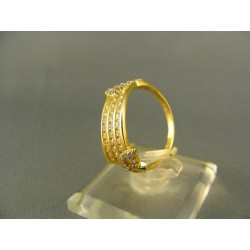 Zlatý dámsky prsteň s malými kamienkami žlté zlato VP54265Z