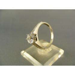 Zlatý prsteň so zirkónom biele zlato VP57324B