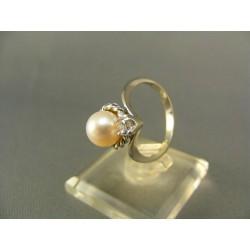 Zlatý dámsky prsteň s perlou kultivovanou biele zlato VP54314B