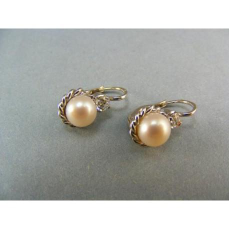 Náučnice zo zlata perla kultivovaná