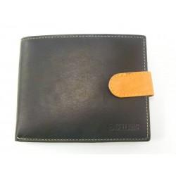 Pánska peňaženka kožená v čiernej farbe VGALANA068C/P
