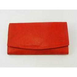 Dámska peňaženka kožená červená farba VGALANA097R