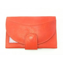 Dámska peňaženka kožená červená farba VGALANA092R