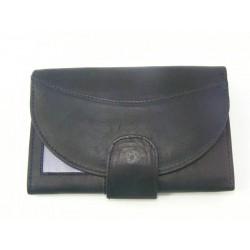 Dámska peňaženka kožená čierna farba VGALANA2490