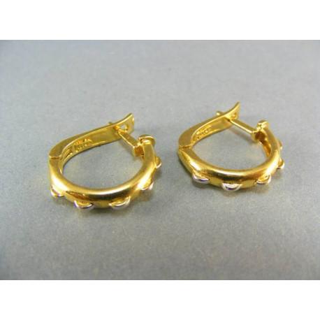 Zlaté náušnice kruhy malé