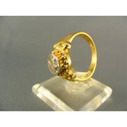 Zlatý prsteň so zirkónom žlté zlato VP57485Z