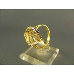 Zlatý prsteň v tvare listu žlté zlato VP58423Z