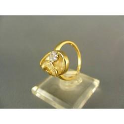 Zlatý dámsky prsteň s pekným vzorom žlté zlato VP54389Z