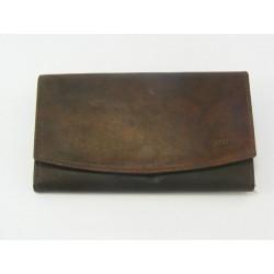 Dámska peňaženka kožená tmavohneda VGALANA097/H