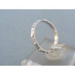 Zlatý prsteň ruženec biele zlato DP58176B