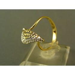 Zlatý dámsky prsteň s moderným vzorom žlté zlato DP60221Z