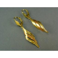 Zlaté náušnice v žltom a červenom zlate VA262V