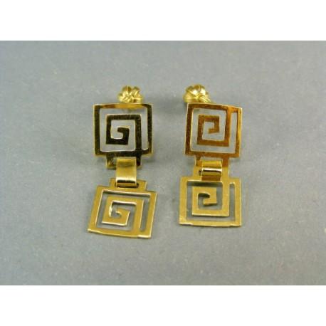 Zlaté náušnice visiace  žlté zlato