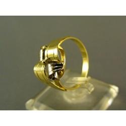 Zlatý dámsky prsteň  viacfarebné zlata VP58316V