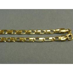 Zlatá retiazka obdĺžnikovy vzor žlté zlato VR501158