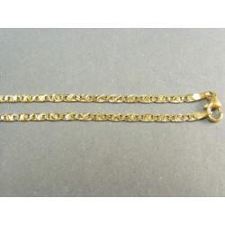 Zlatá retiazka vzor žiletka zlato žlté vzorovaná VR50539Z