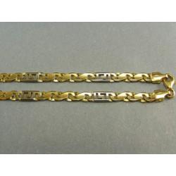 Zlata retiazka hrubá kombinácia žlté a biele zlato VR501702V