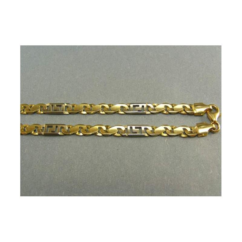 f7eea2df6 Hrubá zlata retiazka kombinácia žlté a biele zlato