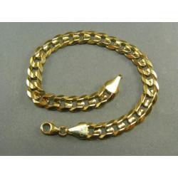 Zlatý náramok vzor pancier hrubá