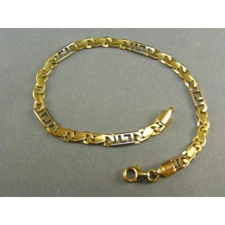 Zlatý náramok dvojfarebné zlato