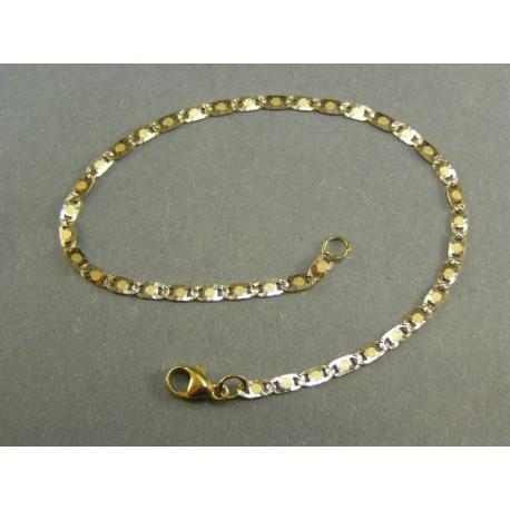 Zlatý náramok viacfarebný vzor žiletka